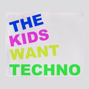 THE KIDS TECHNO Throw Blanket