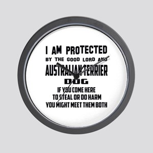 I am protected by the good lord and Aus Wall Clock