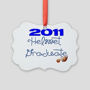 2011 helmet graduate Picture Ornament