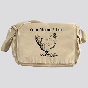 Custom Chicken Sketch Messenger Bag