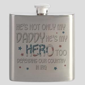 HesNotOnlyMyDaddyHeroTooIraq Flask