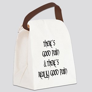 2-good mael black round Canvas Lunch Bag