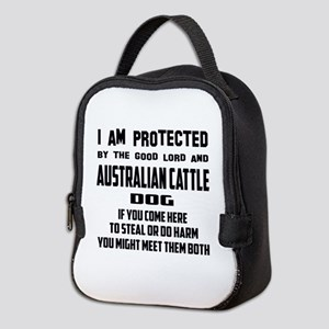I am protected by the good lord Neoprene Lunch Bag