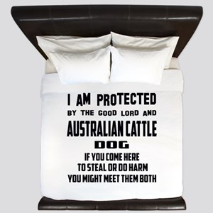 I am protected by the good lord and Aus King Duvet