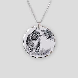 KittenAndFrog_12x12 Necklace Circle Charm