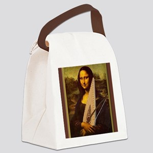 Mona Lisa canvas extra large Canvas Lunch Bag