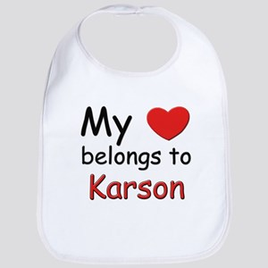 My heart belongs to karson Bib