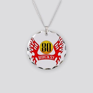 wings80 Necklace Circle Charm