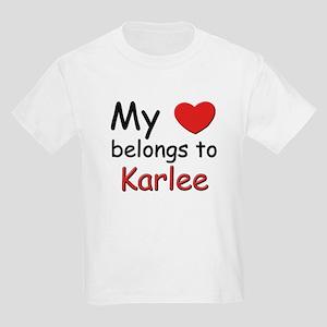 My heart belongs to karlee Kids T-Shirt