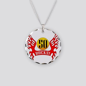 wings50 Necklace Circle Charm