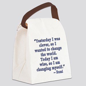 Rumi Quote on Change Canvas Lunch Bag