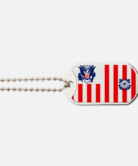 USCG-Flag-Ensign-Outlined Dog Tags