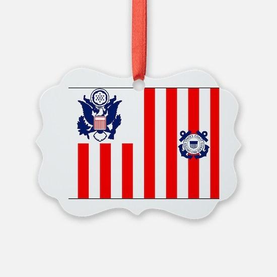 USCG-Flag-Ensign-Outlined Ornament