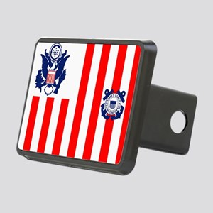 USCG-Flag-Ensign-Outlined Rectangular Hitch Cover