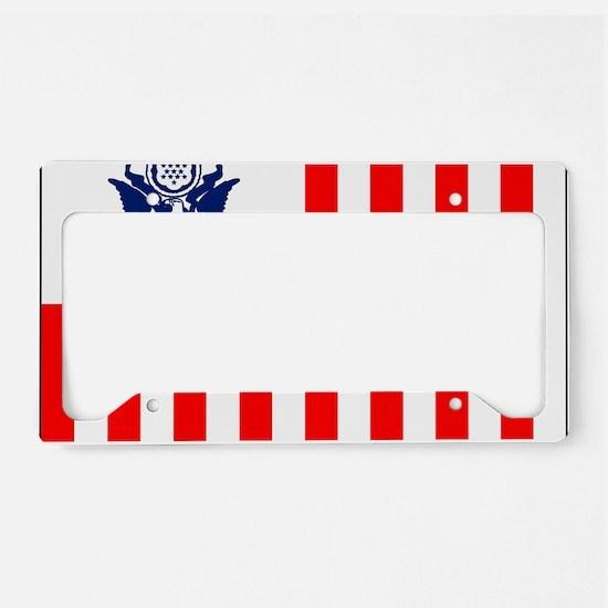 USCG-Flag-Ensign-Outlined License Plate Holder