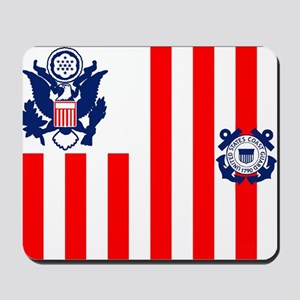 USCG-Flag-Ensign-Outlined Mousepad