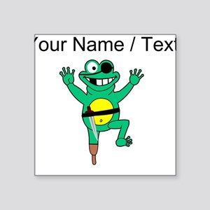 Custom Pirate Frog Sticker