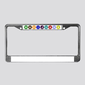 Marijuana Colors License Plate Frame