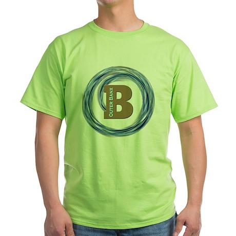 OB_D3_BlkBk Green T-Shirt