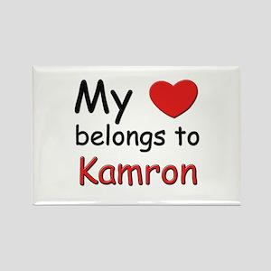 My heart belongs to kamron Rectangle Magnet