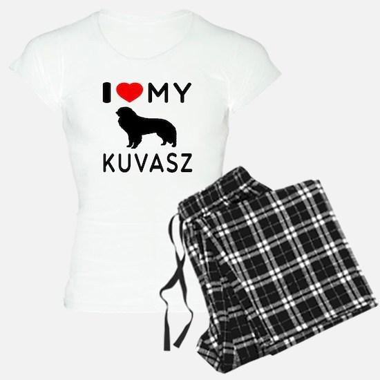 I Love My Dog Kuvasz Pajamas