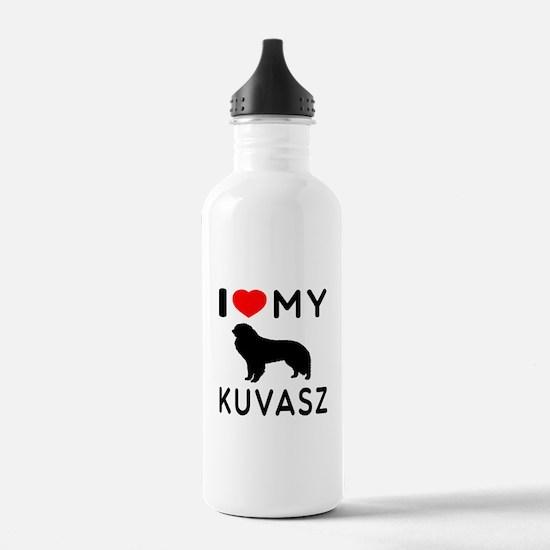 I Love My Dog Kuvasz Water Bottle
