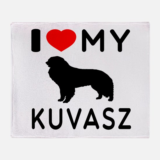 I Love My Dog Kuvasz Throw Blanket