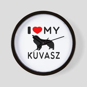 I Love My Dog Kuvasz Wall Clock