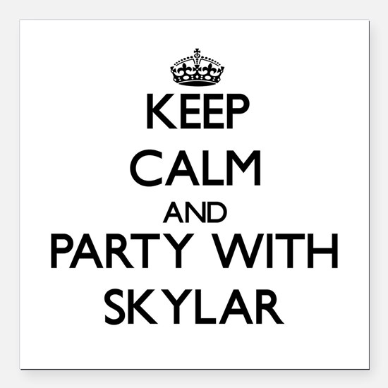 Keep Calm and Party with Skylar Square Car Magnet