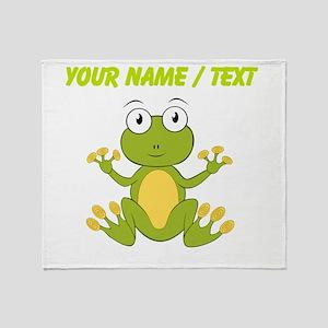 Custom Cartoon Frog Throw Blanket