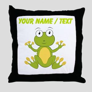 Custom Cartoon Frog Throw Pillow