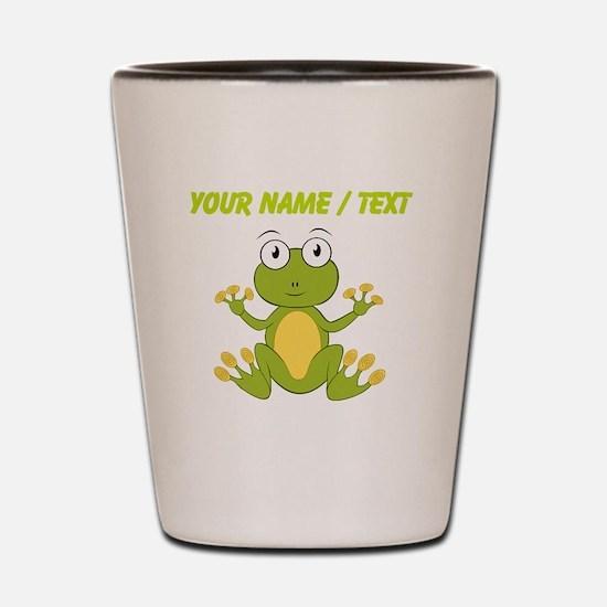 Custom Cartoon Frog Shot Glass
