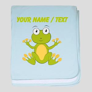 Custom Cartoon Frog baby blanket