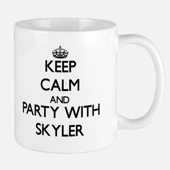 Keep Calm and Party with Skyler Mugs