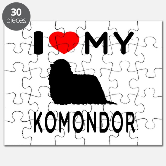 I Love My Dog Komondor Puzzle