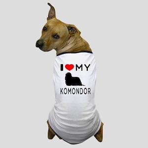 I Love My Dog Komondor Dog T-Shirt