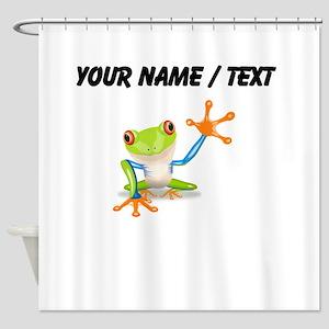 Custom Tree Frog Shower Curtain