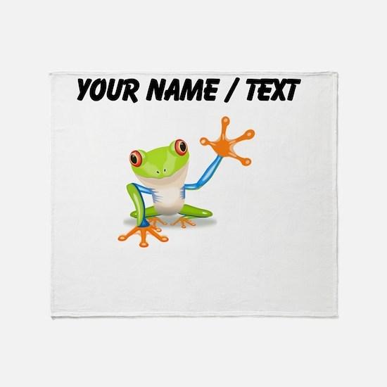 Custom Tree Frog Throw Blanket