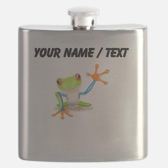 Custom Tree Frog Flask