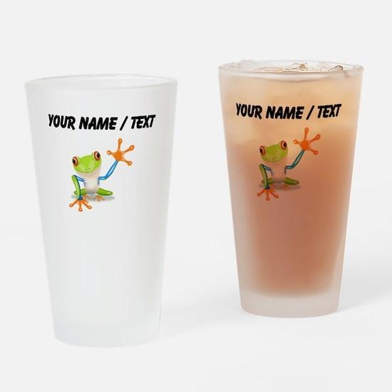 Custom Tree Frog Drinking Glass