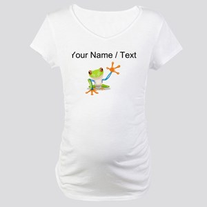 Custom Tree Frog Maternity T-Shirt