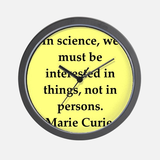 curie4.png Wall Clock