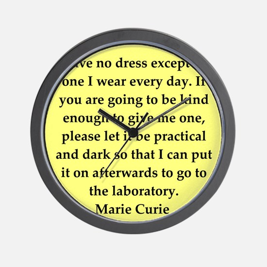 curie10.png Wall Clock