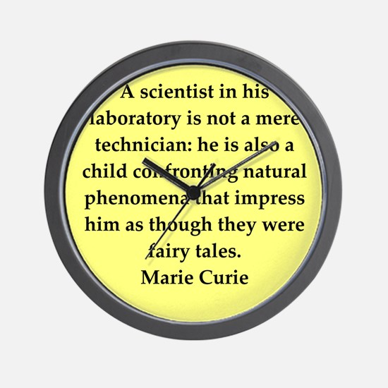 curie9.png Wall Clock