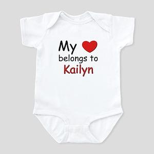 My heart belongs to kailyn Infant Bodysuit