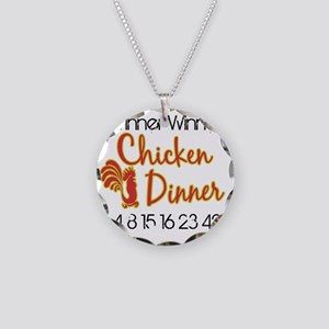 Lost Winner Chicken Dinner Necklace Circle Charm