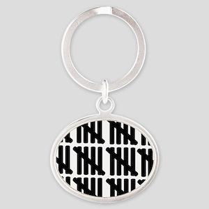 line_sixty Oval Keychain