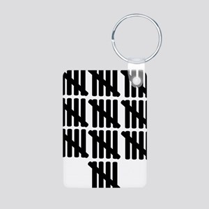 line_fifty Aluminum Photo Keychain