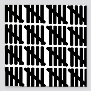 """line_eighty Square Car Magnet 3"""" x 3"""""""