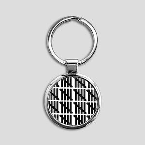 line_eighty Round Keychain